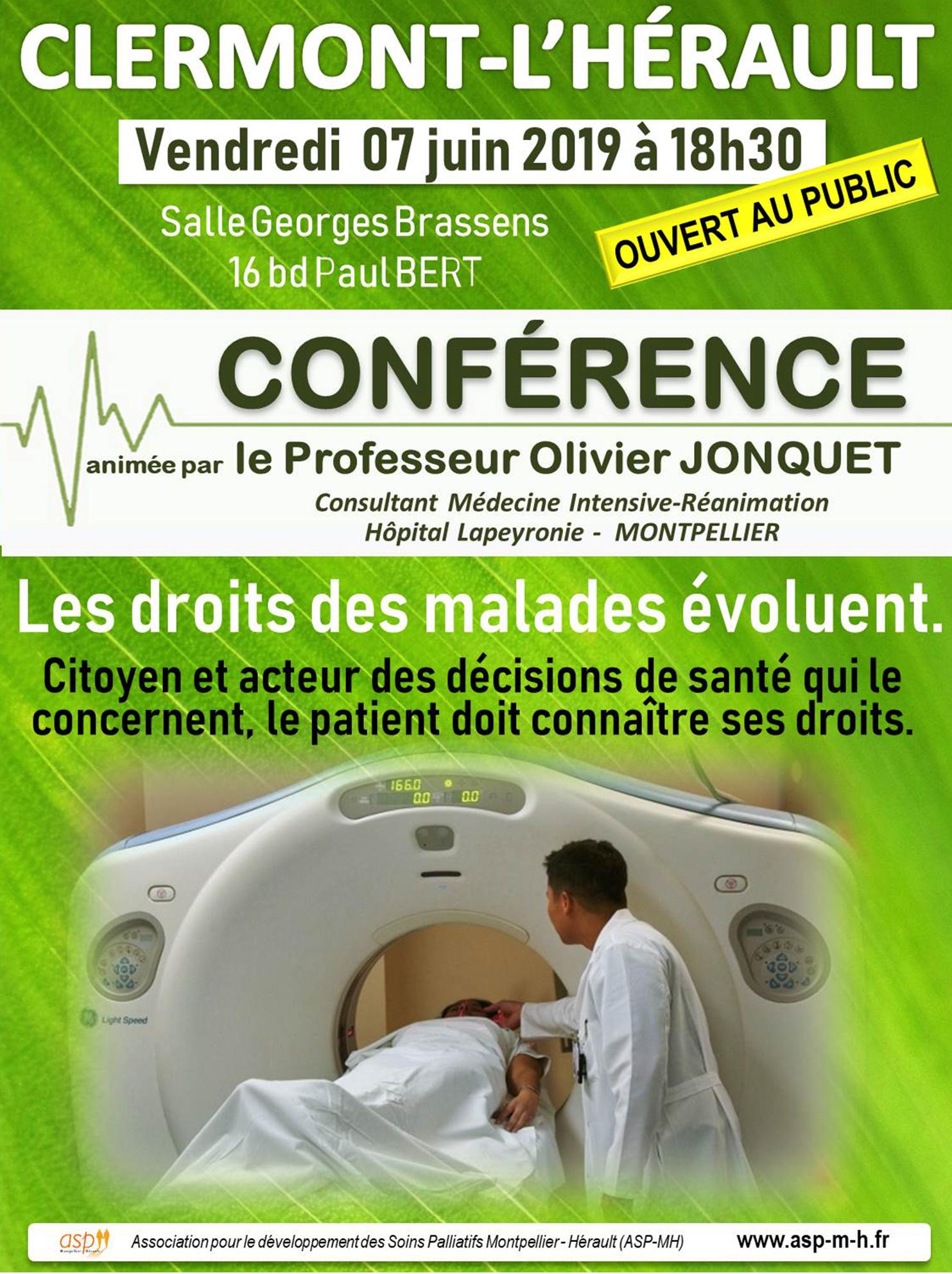 Conférence Clermont L'Hérault du 07 juin 2019 w